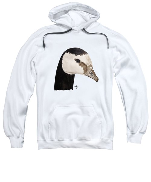 Barnacle Goose Portrait Sweatshirt by Angeles M Pomata