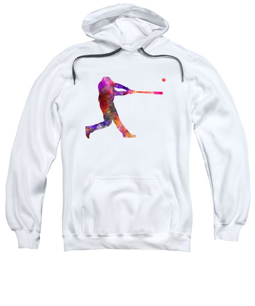 Baseball Player Hitting A Ball 01 Sweatshirt