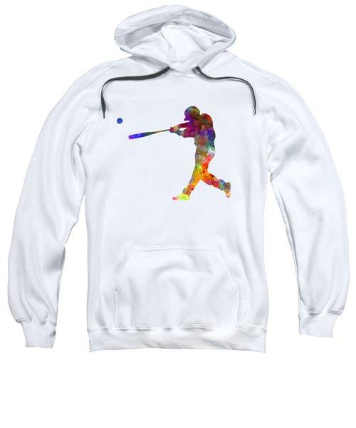 Baseball Player Hitting A Ball 02 Sweatshirt by Pablo Romero