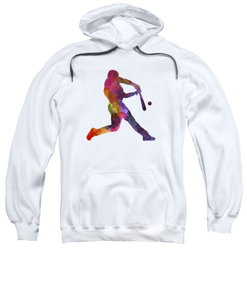 Baseball Player Hitting A Ball Sweatshirt