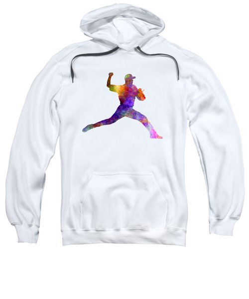 Baseball Player Throwing A Ball 01 Sweatshirt