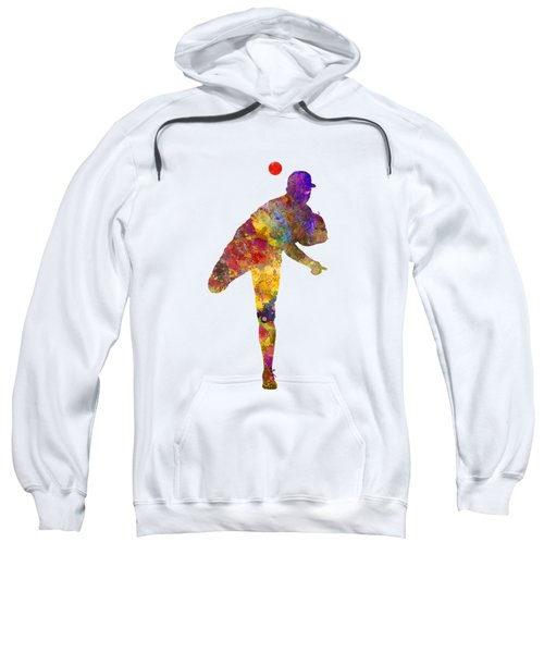 Baseball Player Throwing A Ball Sweatshirt