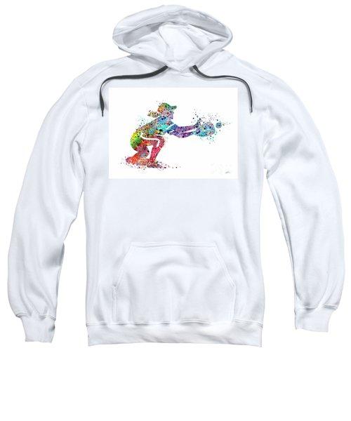 Baseball Softball Catcher 2 Sports Art Print Sweatshirt