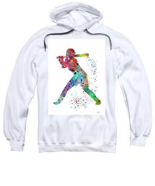 Baseball Softball Player Sweatshirt by Svetla Tancheva