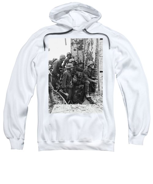 Battle Of Stalingrad  Nazi Infantry Street Fighting 1942 Sweatshirt