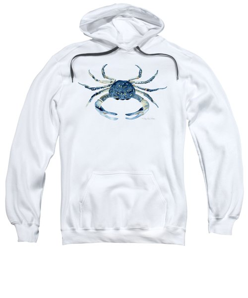 Beach House Sea Life Blue Crab Sweatshirt by Audrey Jeanne Roberts
