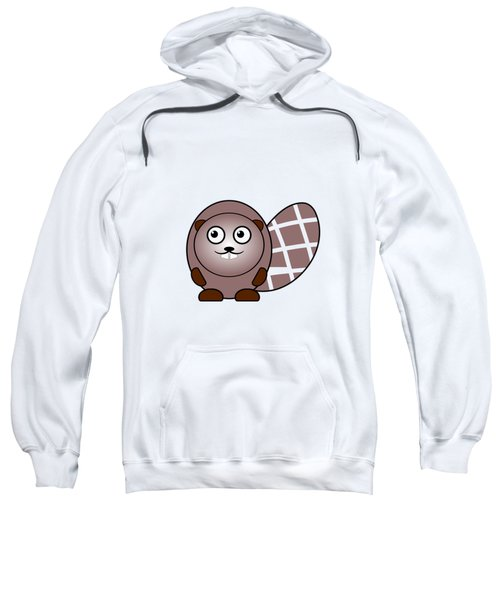 Beaver - Animals - Art For Kids Sweatshirt by Anastasiya Malakhova