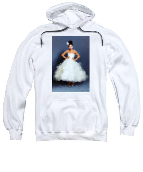 Sweatshirt featuring the digital art Becky by Nancy Levan