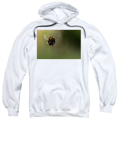 Bee Flying - View From Front Sweatshirt