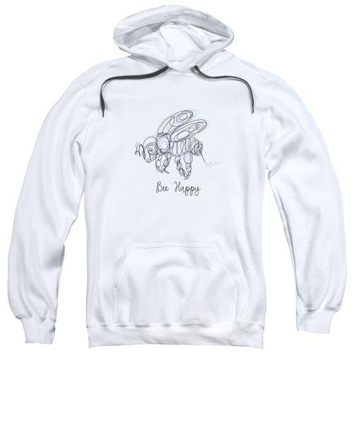 Bee Happy Sketch  Sweatshirt