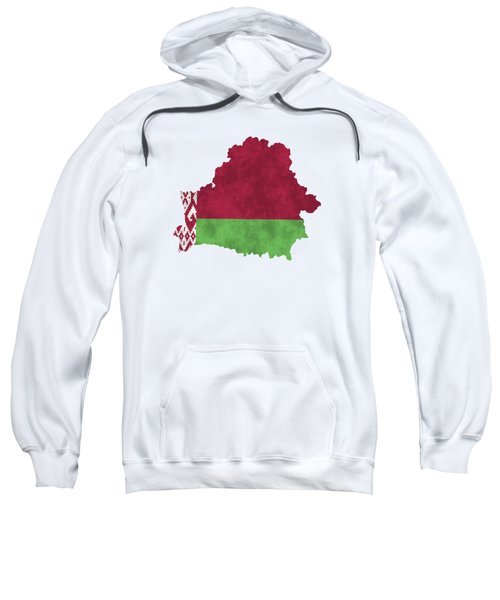 Belarus Map Art With Flag Design Sweatshirt