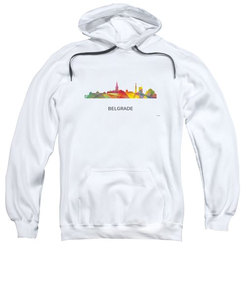Belgrade Serbia Skyline Sweatshirt
