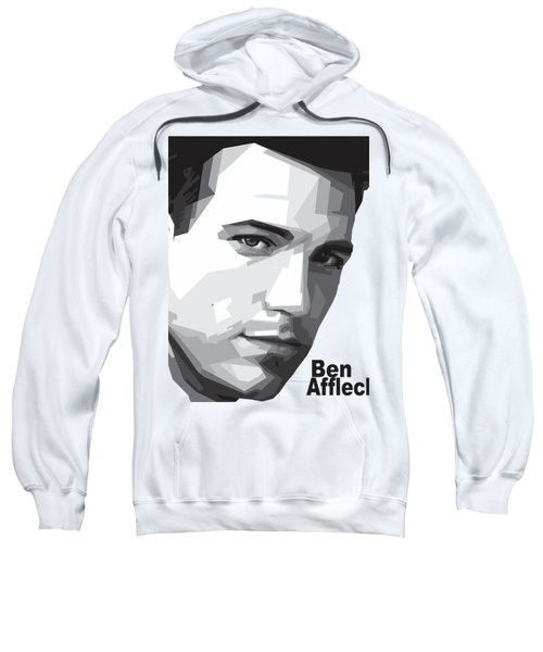 Ben Affleck Portrait Art Sweatshirt by Madiaz Roby