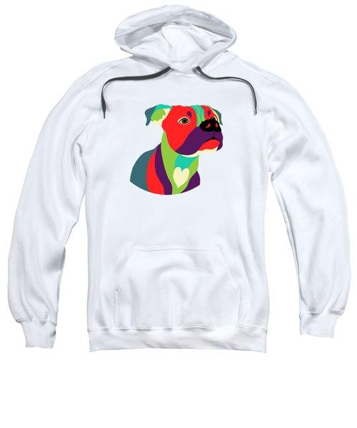 Bennie The Boxer Dog - Wpap Sweatshirt by SharaLee Art