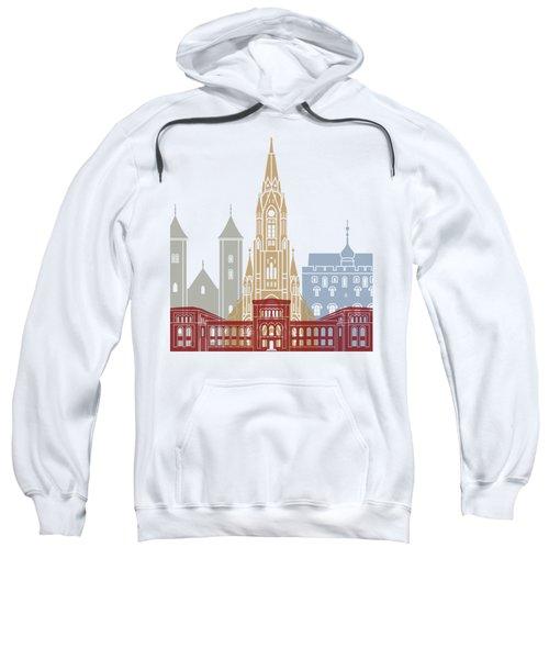 Bergen Skyline Poster Sweatshirt