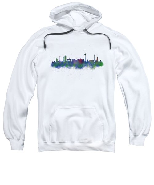 Berlin City Skyline Hq 2 Sweatshirt by HQ Photo