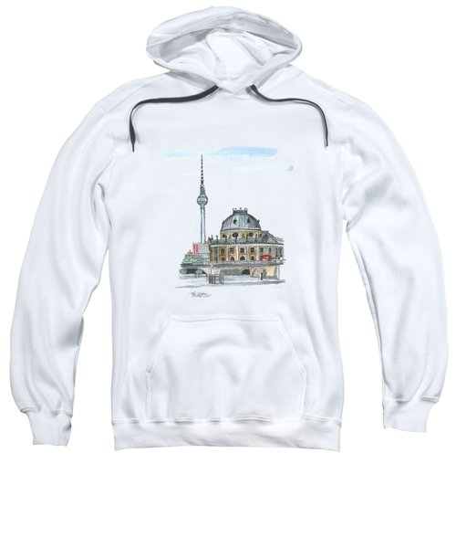 Berlin Fernsehturm Sweatshirt by Petra Stephens