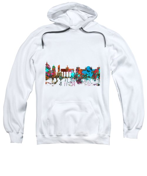 Berlin Germany Skyline  Sweatshirt by Marlene Watson