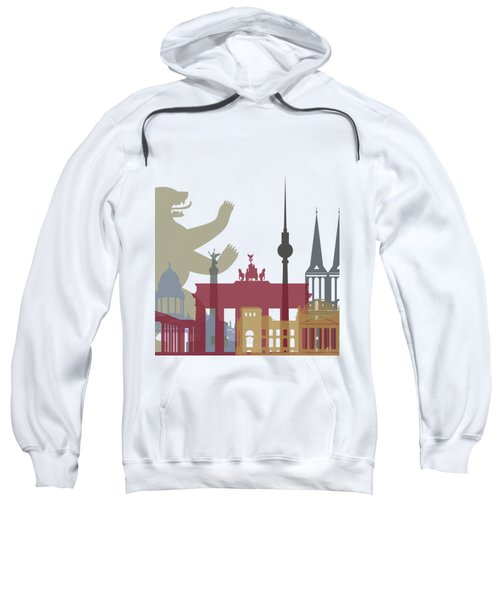 Berlin Skyline Poster Sweatshirt by Pablo Romero