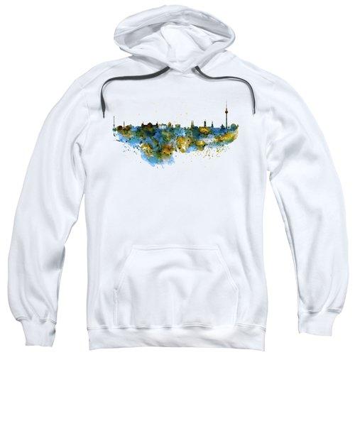 Berlin Watercolor Skyline Sweatshirt