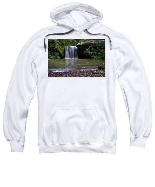 Sweatshirt featuring the photograph Berowra Waterfall by Werner Padarin