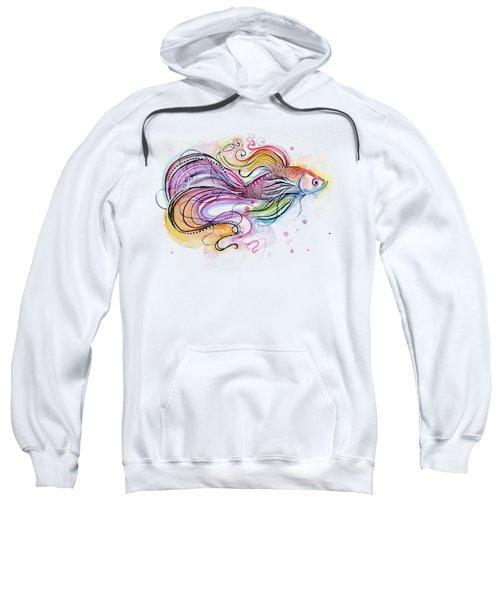 Betta Fish Watercolor Sweatshirt