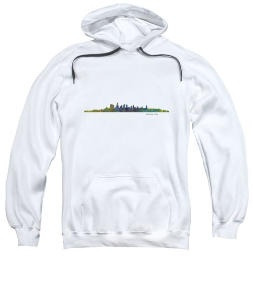 Beverly Hills City In La City Skyline Hq V1 Sweatshirt by HQ Photo