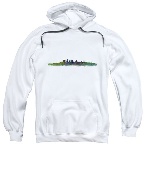 Beverly Hills City In La City Skyline Hq V2 Sweatshirt by HQ Photo