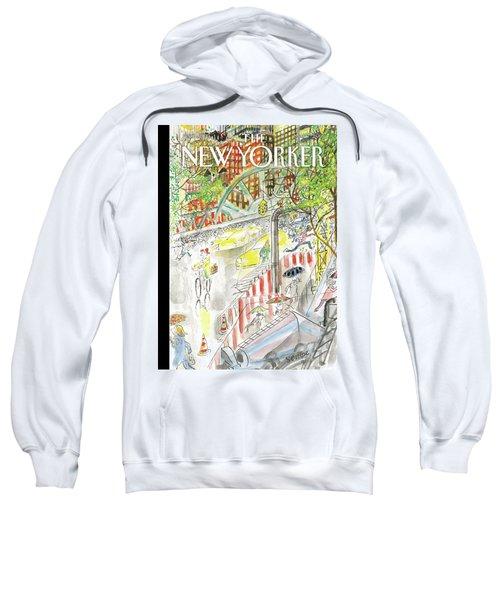 Biking In The Rain Sweatshirt