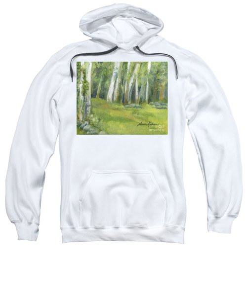 Birch Trees And Spring Field Sweatshirt
