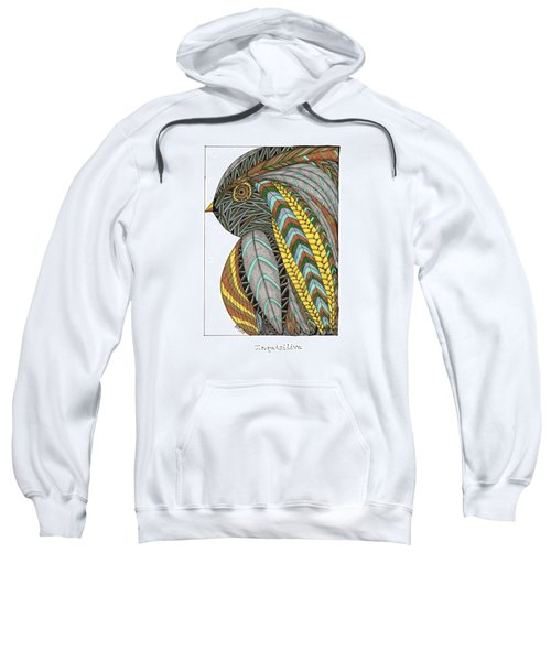 Bird_inquisitive_s007 Sweatshirt