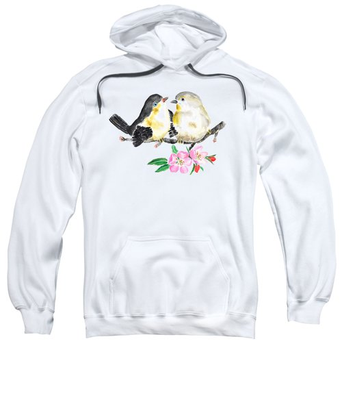 Birds And Apple Blossom Sweatshirt by Color Color