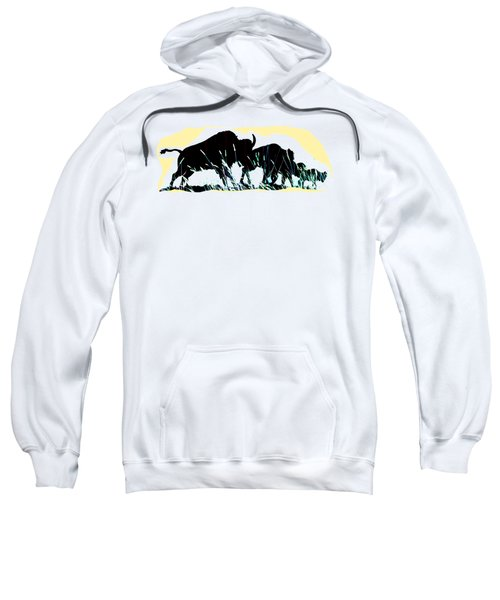 Bison Prairie Run Sweatshirt by Aliceann Carlton