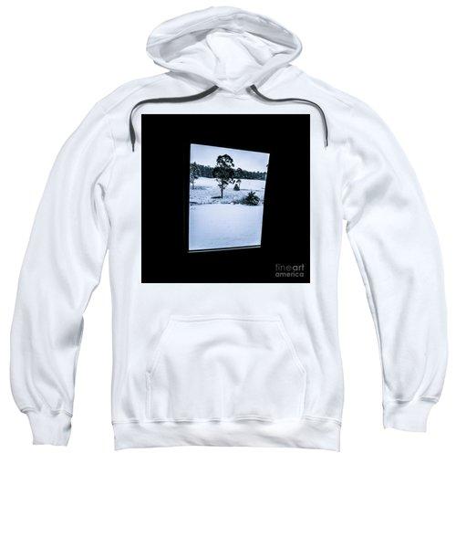 Black And Blue Snow Landscape Sweatshirt