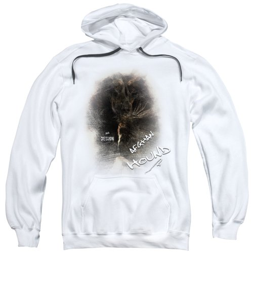 Black And Tan Afghan Hound In The Wind Sweatshirt
