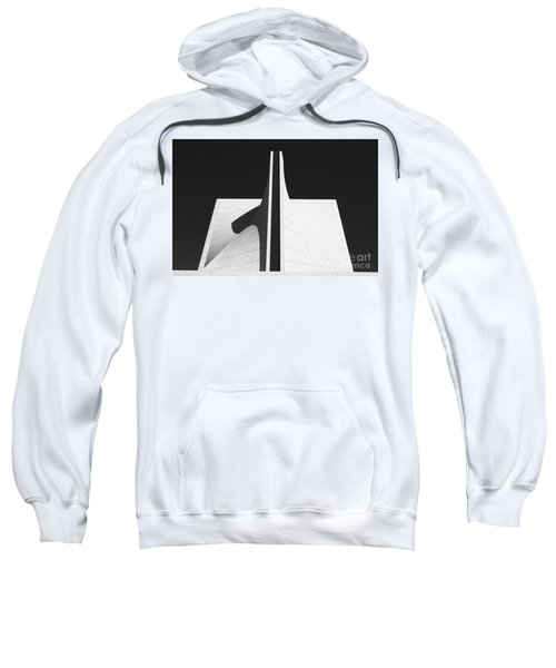 Sweatshirt featuring the photograph Black And White Building by MGL Meiklejohn Graphics Licensing