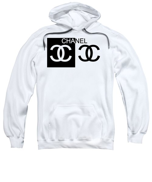 Sweatshirt featuring the mixed media Black And White Chanel 2 by Dan Sproul