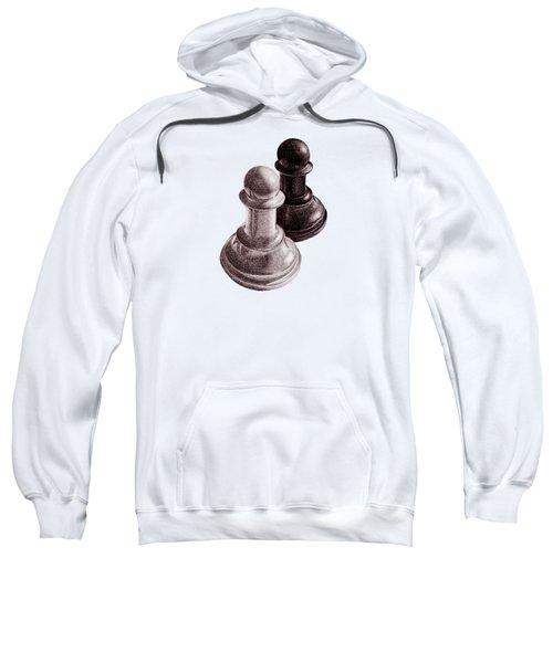 Black And White Chess Pawns Pattern Sweatshirt