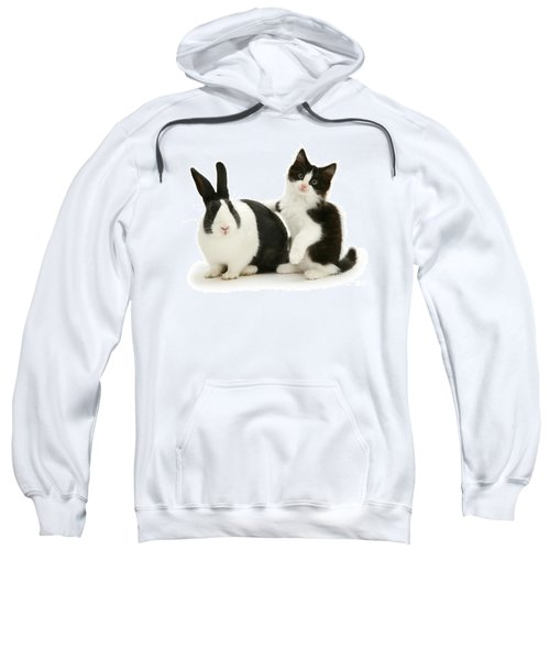 Black And White Double Act Sweatshirt