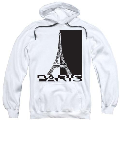 Black And White Eiffel Tower Sweatshirt by Yurii Perepadia