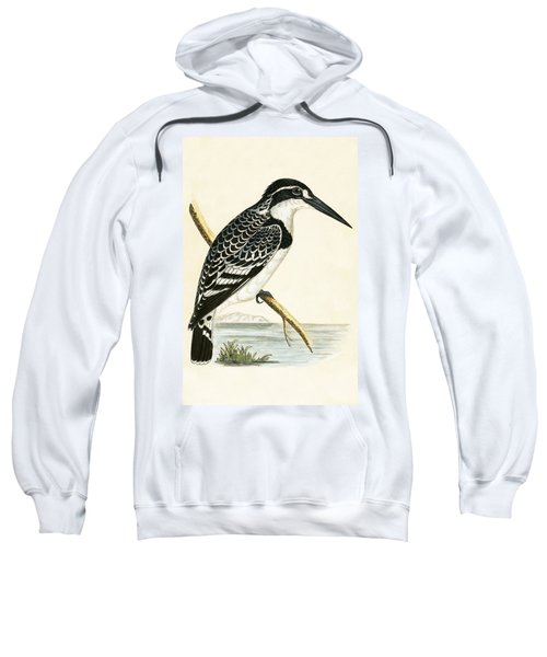 Black And White Kingfisher Sweatshirt