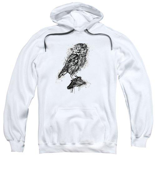 Black And White Owl Sweatshirt