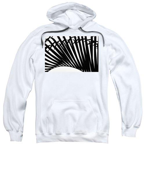 Black And White Palm Branch Sweatshirt
