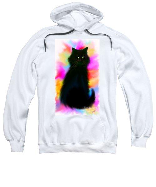 Black Cat Rainbow Sky Sweatshirt