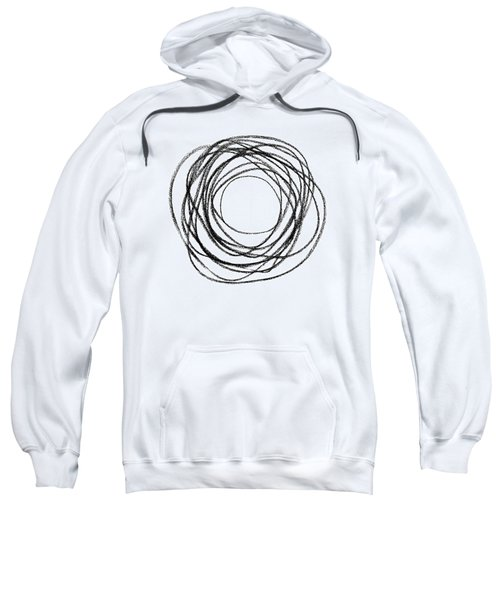 Black Doodle Circular Shape Sweatshirt
