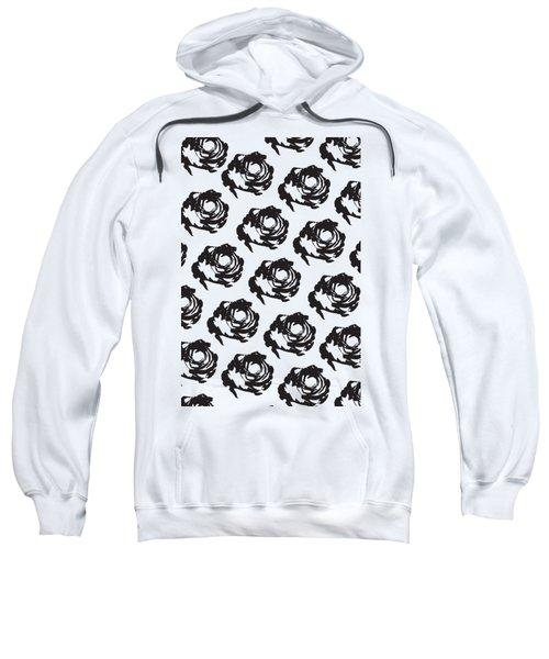 Black Rose Pattern Sweatshirt
