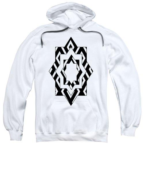 Black White Pattern Art Sweatshirt