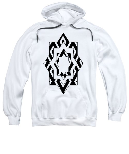 Black White Pattern Art Sweatshirt