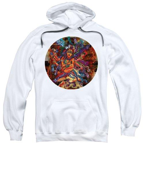 Sweatshirt featuring the painting Blessing Shiva by Guruji Aruneshvar Paris Art Curator Katrin Suter