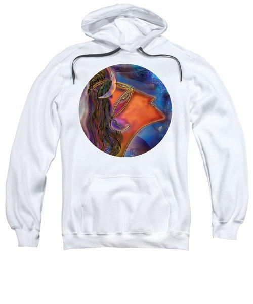 Sweatshirt featuring the painting Bliss Shiva by Guruji Aruneshvar Paris Art Curator Katrin Suter